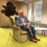 CEO op de sofa KBC Leuven , scenography for Flanders DC